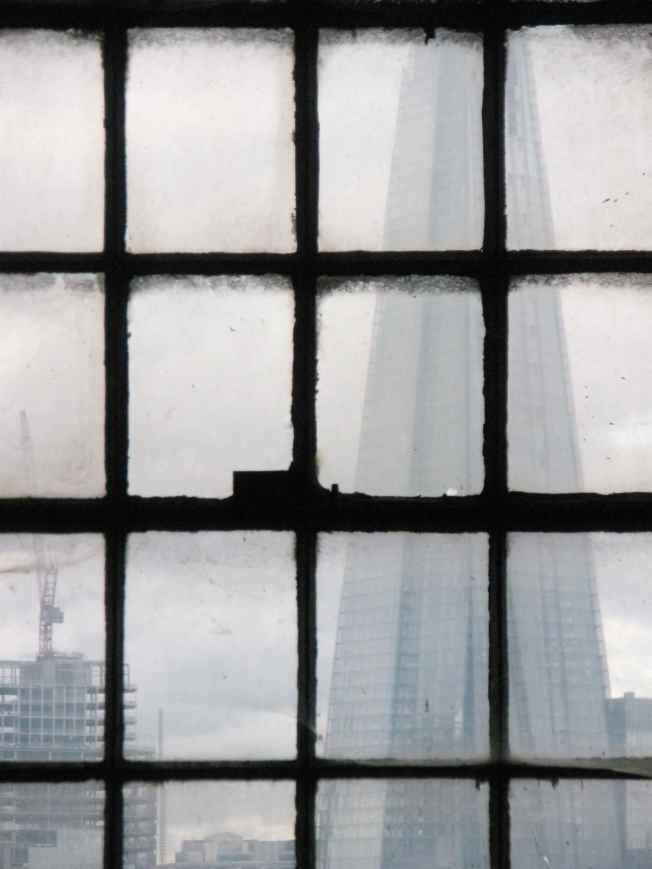 The Shard Through Warehouse Window June 2012