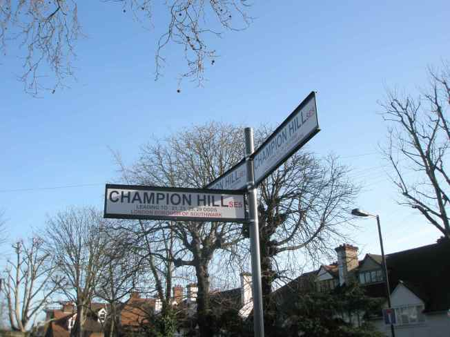 Champion Hill Fingerpost