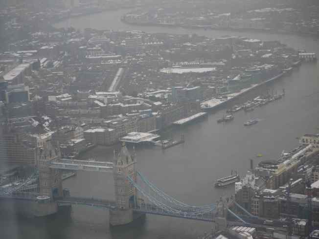 Tower Bridge and the Thames, Looking East