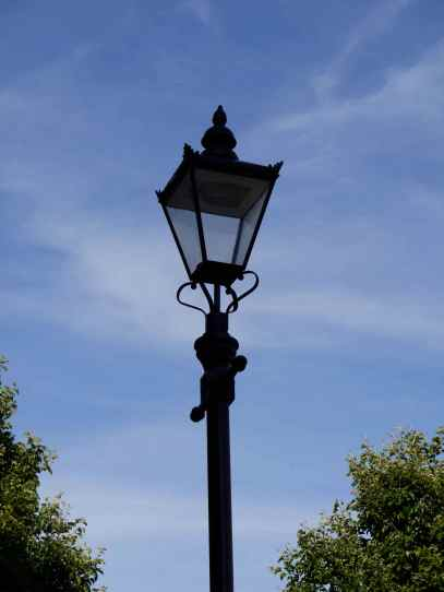 Lamp Post Against Blue Sky