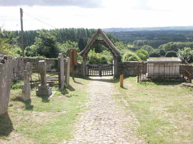 Churchyard and View, West Peckham.