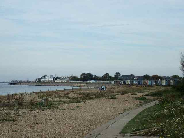 Beach Huts Before Whitstable