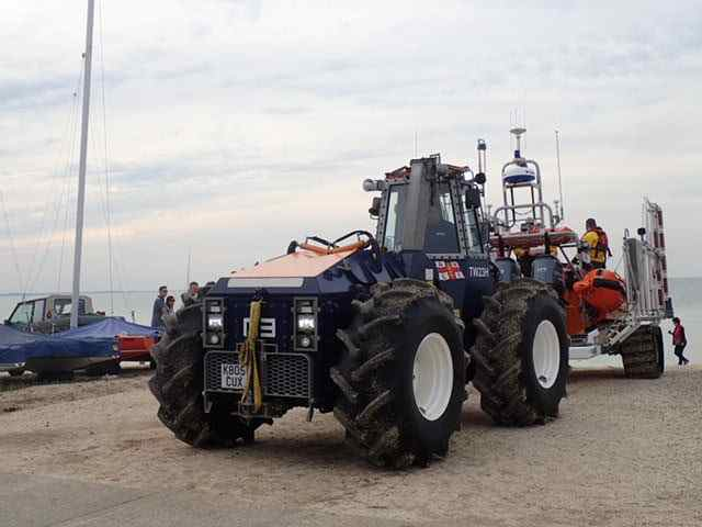 RNLI Boat and Tractor