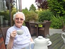 Aunt enjoys her tea