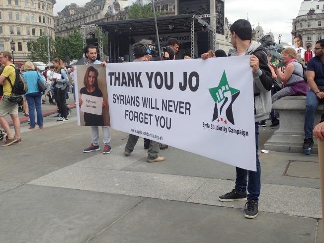 Syrians thank Jo