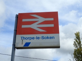 Thorpe-le-Soken with British Rail ( now sadly defunct) sign